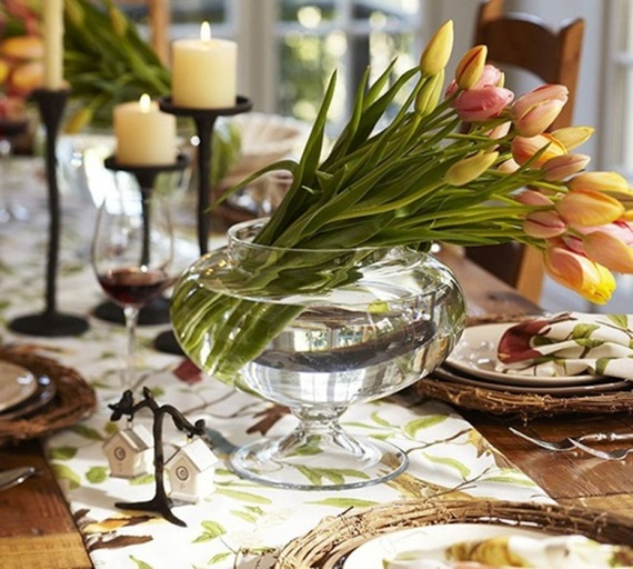 spring flowers home remodeling ideas,spring, flowers, home remodeling, ideas,table,plates,candle,glass