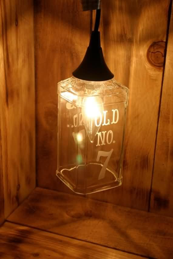 turn old bottles into lamps diy project 36 Turn Old Bottles Into Lamps DIY