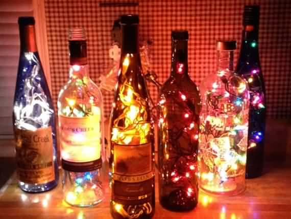 turn old bottles into lamps DIY project, old bottles, lamps, DIY, DIY project, recycling old bottles,recycling bottles,recycling old bottles into lamps,recycling bottles into lamps