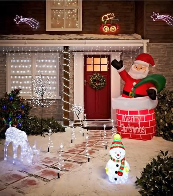 Ordinaire Best Outdoor Christmas Decorations Ideas 38