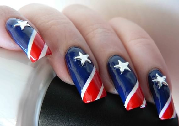 Pakistan Independence Day Nail Art 4 Designs: 4th Of July Nail Art Design Ideas