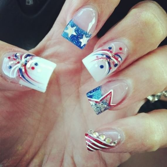4th of July Nail Art Design Ideas - 4 UR Break - Family Inspiration ...