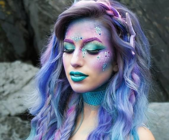Creative hairstyles & makeup for Halloween , hairstyles & makeup for Halloween , makeup for Halloween , Halloween , hairstyles & makeup