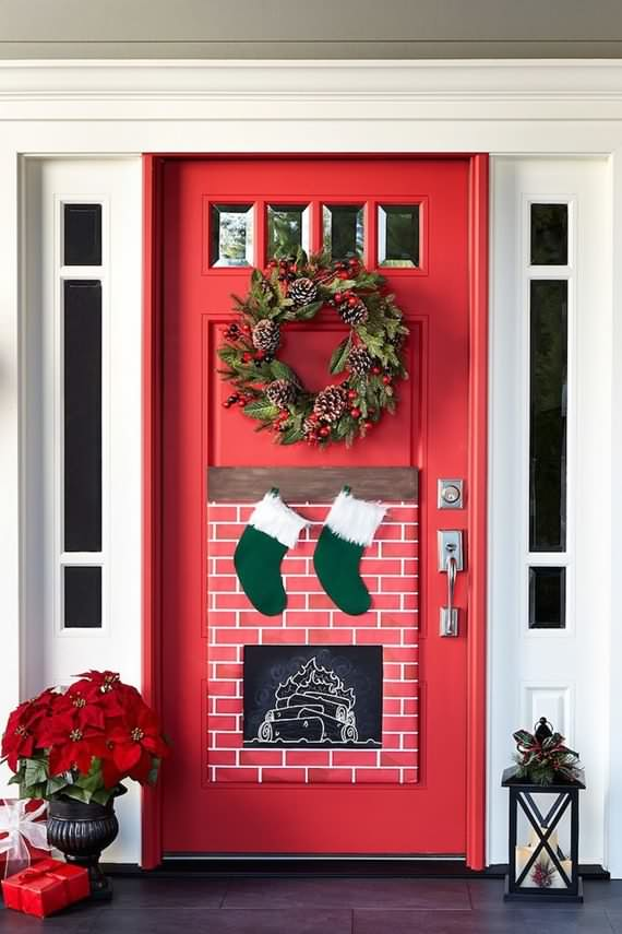 Christmas door decorating ideas part 2 | 4 UR Break ...