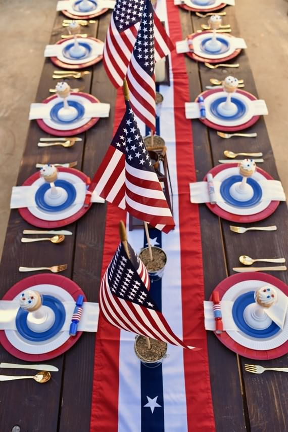 How To Set Your 4th Of July Table , How To Set , Your 4th Of July Table , 4th Of July Table , 4th Of July , Table , Patriotic , independence day