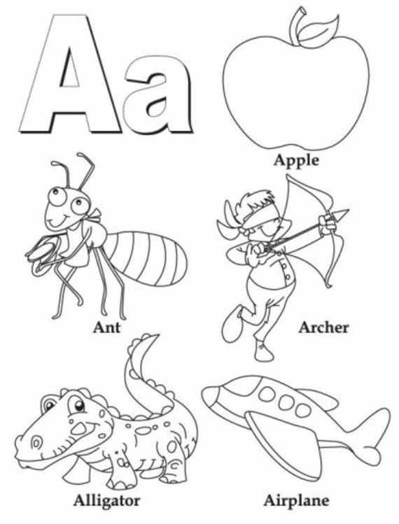 Best Coloring Pages Of Alphabet Letter A