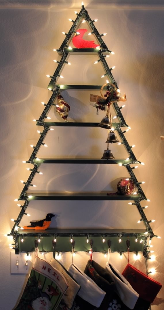 Creative Christmas Tree In Small Spaces , Creative Christmas Tree , Christmas Tree In Small Spaces , Christmas , Christmas Tree , Tree In Small Spaces , Tree