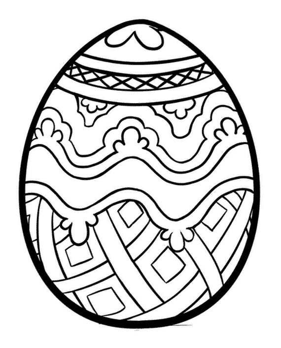 Best Easter Eggs Coloring Pages | 4 UR Break - Family ...