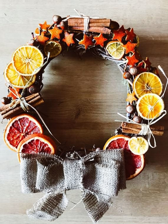 Spices & Dried Fruit Christmas Wreath, Spices & Dried Fruit , Christmas Wreath, Christmas, Wreath