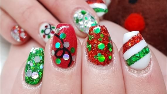 Christmas Nail Colors And Designs For Short Nails, Christmas Nail, Colors And Designs For Short Nails, Christmas Nail Colors, Short Nails , Christmas , Nail Colors And Designs For Short Nails , Nails , Nail